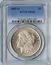 1882-O S$1 MS62 PCGS