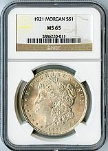 1921 Morgan S$1 MS65 NGC