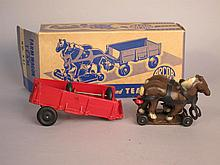 Auburn Rubber Toy Farm Wagon and Team With Box. From the collection of Bill Ferretti.