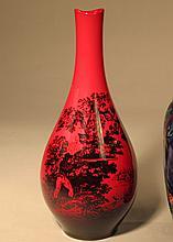 English Royal Doulton Flambe Pottery Hunting Vase.
