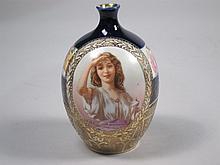 Royal Bayreuth Porcelain Portrait Vase.