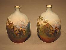 Pair Royal Bayreuth Diminutive Vases.