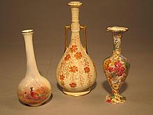 Three English Porcelain Vases.