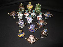Collection of Diminutive Cloisonne Pieces.