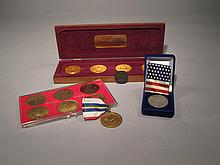 Collection Of Medals, Medallions And Reproduction Coins.