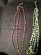reddish beaded designer necklace