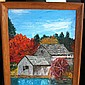 1968 ARTIST PASEL Landscape & Lake Wood Picture Frame