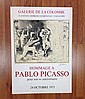 HOMMAGE A PABLO PICASSO OCT. 1971 ART GALLERY POSTER