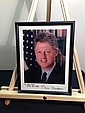 PRESIDENT BILL CLINTON Signed Color 8x10 Photograph & Framed