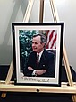PRESIDENT GEORGE BUSH Signed Color 8x10 Photograph & Framed