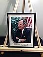 PRESIDENT GEORGE BUSH Signed Color 8x10 Photograph & Framed
