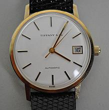 GENT'S TIFFANY & CO. GOLD CASE WATCH