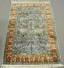 5.11 X 3.11 PERSIAN SILK PRAYER RUG