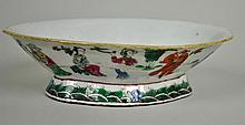 CHINESE FAMILLE ROSE FOOTED BOWL