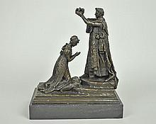 BRONZE SCULPTURE SIGNED FISHER