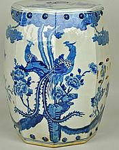 CHINESE BLUE & WHITE PORCELAIN GARDEN SEAT
