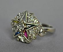 ORDER OF THE EASTERN STAR GOLD & DIAMOND RING