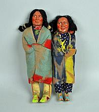 (2) SKOOKUM INDIAN DOLLS