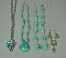 (4) SOUTHWESTERN TURQUOISE JEWELRIES