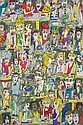 JAMES RIZZI CAFE IN PARIS COLOR LITHOGRAPH