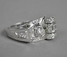 PLATIMUM & DIAMOND COCKTAIL RING 1.50CTW
