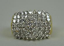 7-ROW DIAMOND PYRAMID RING, 1.50CTW