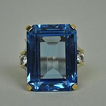 BLUE STONE DINNER RING