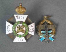 (2) IMPERIAL RUSSIAN ENAMELED MILITARY ITEMS