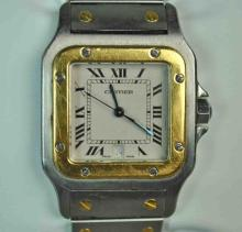 GENTS CARTIER SANTOS BI-METAL BRACELET WATCH