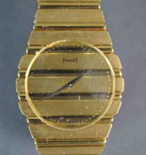GENTS VINTAGE PIAGET POLO 18K BRACELET WATCH