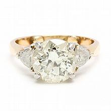Platinum, Gold and Diamond Ring