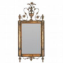 Neoclassical Continental Paint Decorated Wall Mirror