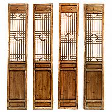 Set of Four Chinese Architectural Panels