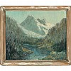 George Thompson Pritchard (1878-1962), Mountain Grandeur, George Thompson Pritchard, $300