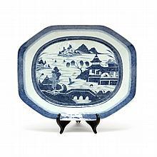 Chinese Export Canton Porcelain Serving Platter
