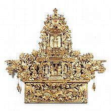 Chinese Carved Giltwood Architectural Element