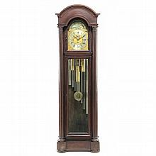Waltham 9 Tube Tall Case Chime Clock