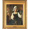 att. Edward Hughes (British, 1851-1914), The Young Spinner, Edward Robert Hughes, $300