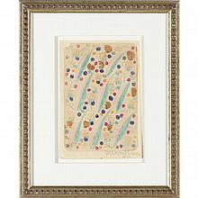 Minnie Evans (NC, 1892-1987), Untitled