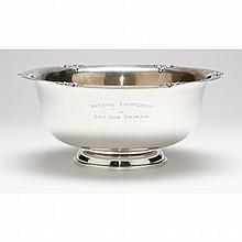 Sterling Silver Golf Trophy Punch Bowl