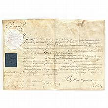 George III Partially Printed Document Signed