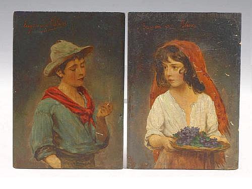 Eugene von Blass (Austrian, 1843-1931), Urchins,