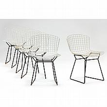 Harry Bertoia, Six Vintage Wire Chairs