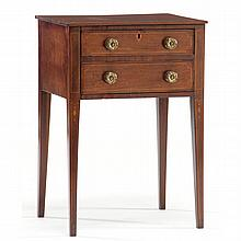 Southern Federal Inlaid Two Drawer Side Table