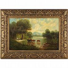 George James Howard (Br., 1843-1911), Cattle Watering