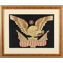 Patriotic Needlework with Eagle