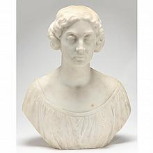 American School Marble Bust of a Woman