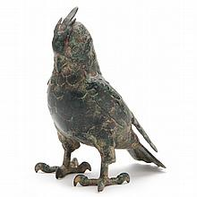 Japanese Cold Painted Bronze Cockatoo