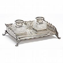 George V Silver Inkstand
