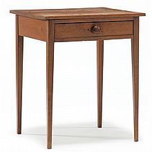 Eastern North Carolina Hepplewhite One Drawer Side Table